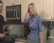 Out of control step son takes MILF